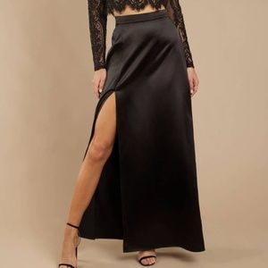 All Of Me Satin Maxi Skirt
